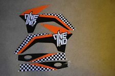 ONE INDUSTRIES CHECKERS  GRAPHICS  KTM85 SX SX85 KTM85SX 85SX 2013 2014 2015 16