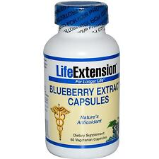 Life Extension Blueberry Extract - 60 Vcaps - Nature's Antioxidant