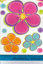 FLOWER POWER and DOTS wall stickers 23 colorful decals wall decor teen nursery