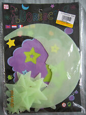 Fluorescent Moon And Stars Home Decoration 1 set