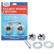 Ark TRAILER ACCESS KIT 2Pcs, 2x Axle Nut, 2x Washer & 2x Split Pin AUST Brand