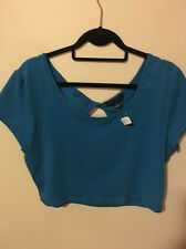 NWT Forever 21 Plus Women's 2X Teal Blue Crop Knit Top