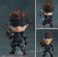 Metal Gear Solid Snake Nendoroid PVC Action Figura Modelo Juguete 10cm