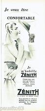 PUBLICITE ADVERTISING 016  1956  Zénith  vetements homme