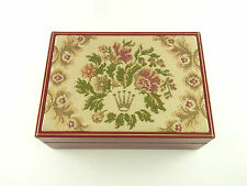 Rolex President Lady Box Ref 60.01.2 vintage 50-60's Tapestry Red Velvet Box
