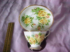 Vintage Royal Albert Tea Rose pattern porcelain china tea cup saucer England