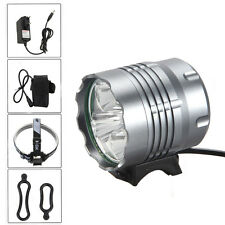 10000Lm 5x CREE XML T6 LED Front Bicycle Light bike Headlamp Head lamp Headlight