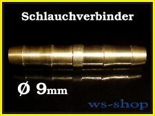 Schlauch Verbinder Schlauchverbinder 9 mm Übergangsstück aus Messing Autogen Gas