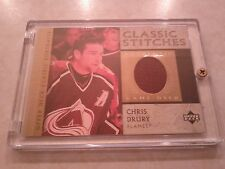2002-03 UD Upper Deck Classic Portraits Stiches Jerseys Chris Drury Card C-CD