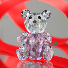 Pink 3D Crystal Paperweight Animals Facet Bear Figurine Glass Wedding Lady Gifts