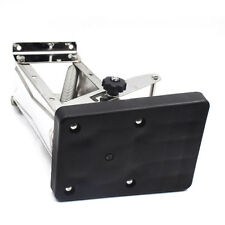 Black Heavy Duty Stainless Steel Outboard Motor Bracket Up To 25hp Durable HOT