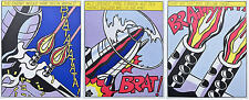 Roy Lichtenstein As i opened fire Offsetlithographie Triptychon Grafik Pop Art