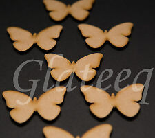 25mm Butterflies MDF wooden shape x50 craft embellishments scrapbooking Wood Art