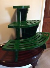 3-tier CORNER ETAGERE Quarter Circle Potted Plant Garden Display Stand Shelves