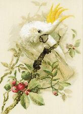 RIOLIS  1362  WHITE COCKATOO  COUNTED  CROSS STITCH  KIT