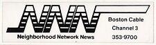 VINTAGE BOSTON NEIGHBORHOOD NETWORK NEWS Massachusetts BUMPER STICKER BNN NNN