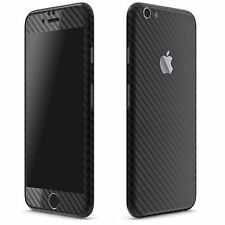 apple iphone 6 / 6s (4.7) black carbon skin front back both