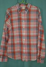 WOMENS J.CREW  THE PERFECT SHIRT BLOUSE  SIZE XL PLAID