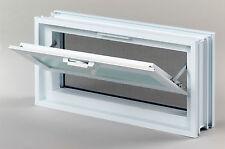 Ventana de ventilación mosquitera en lugar de 2 bloques de vidrio 19x19x8 cm