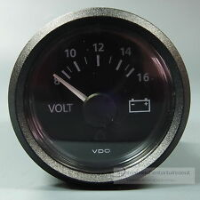 VDO VOLTMETER INSTRUMENT GAUGE + LED 12V 52mm  new Generation classic schwarz