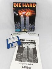 1989 Die Hard PC IBM Computer Video Game Activision Boxed Floppy Disk Tandy Vtg