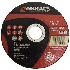 Abracs Professional Metal Inox Slitting Cutting Thin Discs 115mm x 1mm 20 Pack