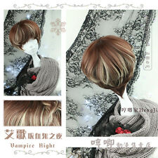Harajuku Gothic Lolita Brown Gradient Curly Hair Cool Daily Cosplay Wig #K-64
