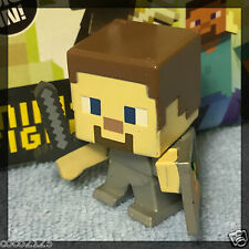 Minecraft Blind Box Figures End Stone Series 6 - STEVE WITH SHIELD - NEW- OOP