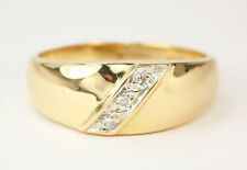 14k Yellow gold Mens Solitaire Diamond Ring