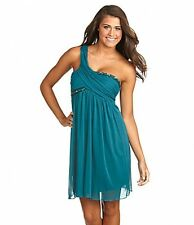 NWOT $100 Jodi Kristopher Beaded Teal Cocktail Party Cruz Prom Dress Size L