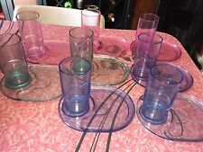 TUPPERWARE ~ Sheerly Elegant Luncheon Lunch Plates Tumblers #2142 #1673 ~ 16 pc