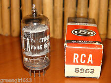 RCA 5963 12AU7  D-Getter w/metal Strip Black Plates Radio Tube Results 2275