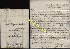 1830 BELFORD p/m letter REVEREND ANDREW SHARP, Glebe House, BAMBURGH