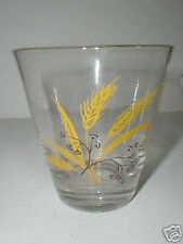 Homer Laughlin Century Service Autumn Gold Wheat Old Fashioned Glass Tumbler