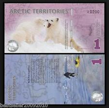 ARTIC TERRITORIES 1 DOLLAR POLYMER BEAUTIFUL NOTE UNC RARE ITEM # 436