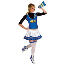 Lady SEXY CHEERLEADER Betty  Costume + Blonde Wig Adult XS Small 0 2 Archie Comi