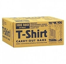 "plastic T-Shirt Carry-Out thank you Bags 1000 ct 11.5"" x 6.5"" x 22""  grocery"