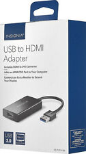 Insignia SuperSpeed USB 3.0 to HDMI External Video Adapter NS-PU37H-BK - In Box