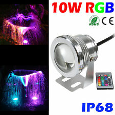 10W Underwater RGB Light LED Remote Control Spot Light Lamp waterproof & Remote