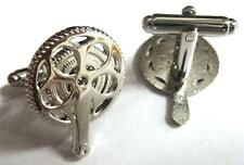 Bicycle Bicyclist Cyclist Gear Pedal Mountain Bike Racing Tour Cufflinks Set