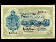 Falkland Islands:P-5,1 Pound,1938 * King George VI * F-VF *
