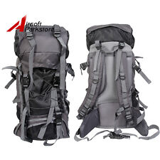 60L Large Outdoor Hiking Camping Mountaineering Travel Backpack Rucksack Bag BK