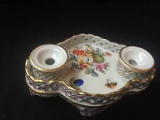 Antique porcelain  HEREND Inkwell - Tintenfass