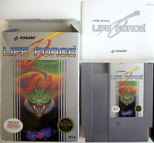 Life Force Lifeforce *Complete In Box CIB (no ads)* Great! Nintendo NES