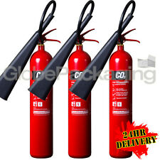 3 x 5KG CO2 CARBON DIOXIDE FIRE EXTINGUISHERS WAREHOUSE OFFICE HOME NEW *24HRS*