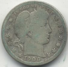 1906 d u.s.a. barber silver quarter dollar *** collector ***