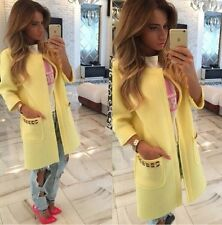 Winter New Ladies Casual Long Jackets Warm Womens Slim Coat Outwear TOP Cardigan