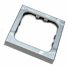 CHROME SINGLE FACEPLATE FRAME for C-LINE CBE SOCKETS. MOTORHOME CARAVAN