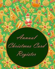 Annual Christmas Card Register by Anthea Peries (2016, Paperback)