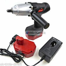 "H Duty 24v Cordless Impact Wrench Gun 1/2""  Batteries X 2 FAST CHARGE MAX 410Nm"